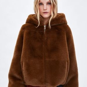 Zara Faux Fur Teddy Jacket